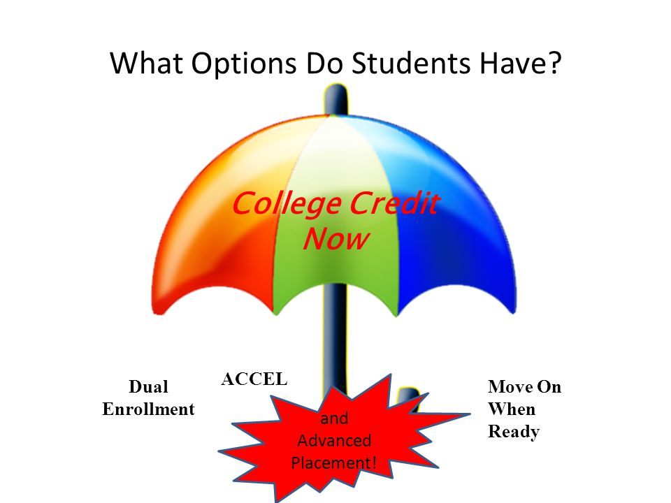 What Options Do Students Have.