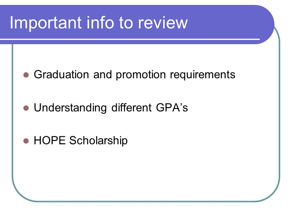 Is there HOPE for me? www.gacollege411.org