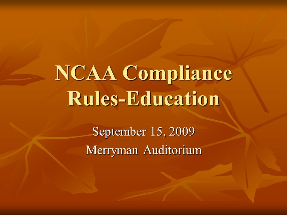 RULES OVERVIEW: Volunteer Coaches and Student-Athlete Fee-For-Lesson September 2009