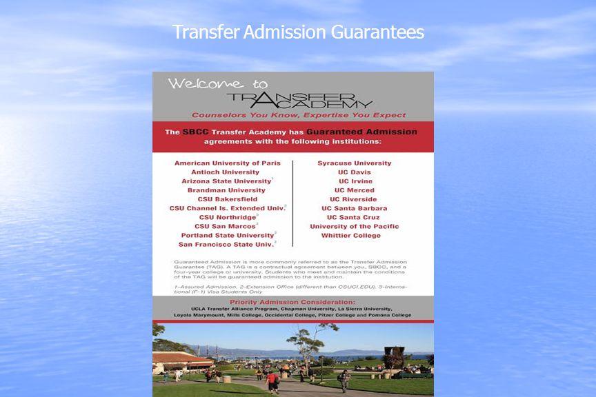 Transfer Admission Guarantees