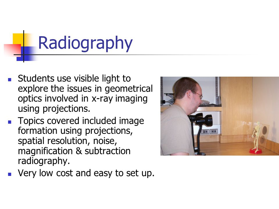 Nuclear Physics / Properties of Ionizing Radiation Laboratory Pasco Scientific and other vendors sells a variety of Nuclear and Gamma Spectroscopy laboratories appropriate for this section.