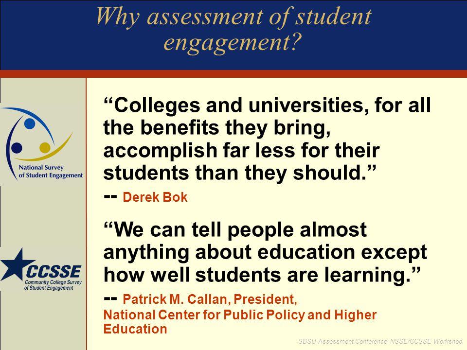 SDSU Assessment Conference NSSE/CCSSE Workshop