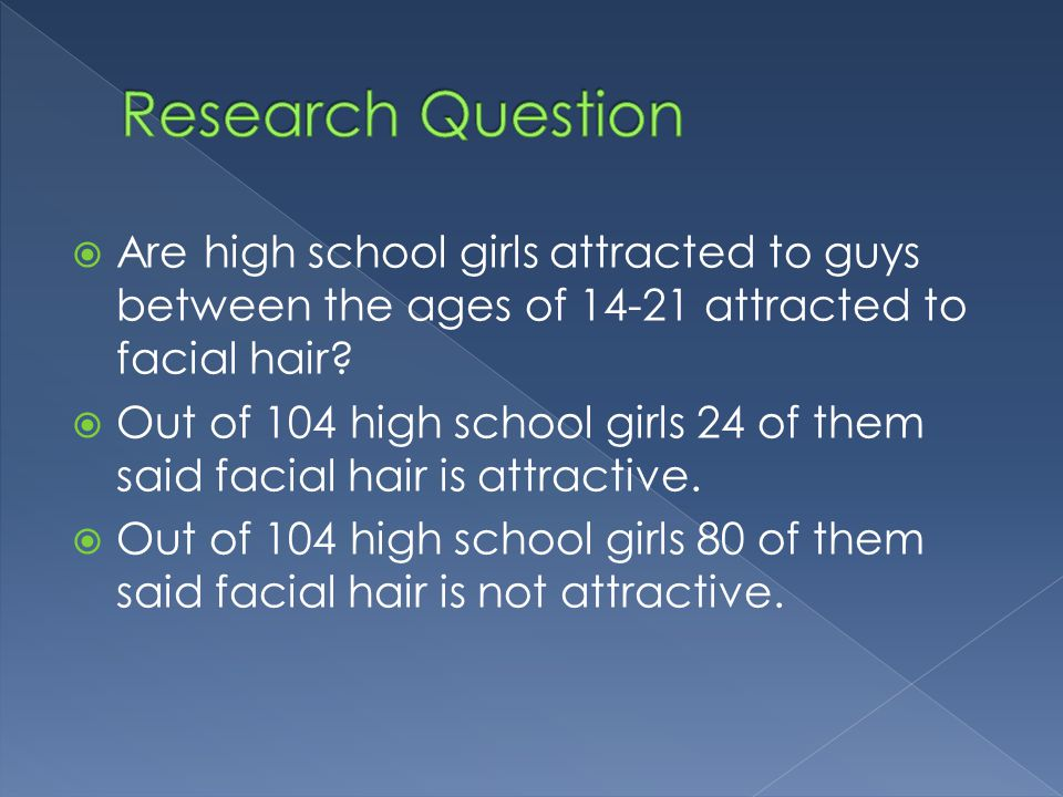  Are high school girls attracted to guys between the ages of 14-21 attracted to facial hair.