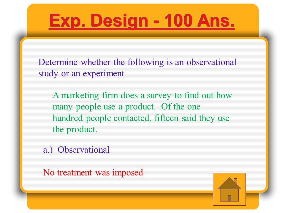 Experimental Design - 600 Answer A study to see the effects of caffeine on college student was conducted.
