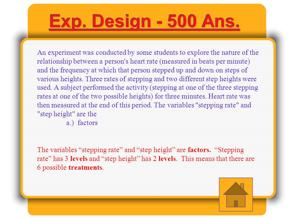 Exp Design - 400 Ans.