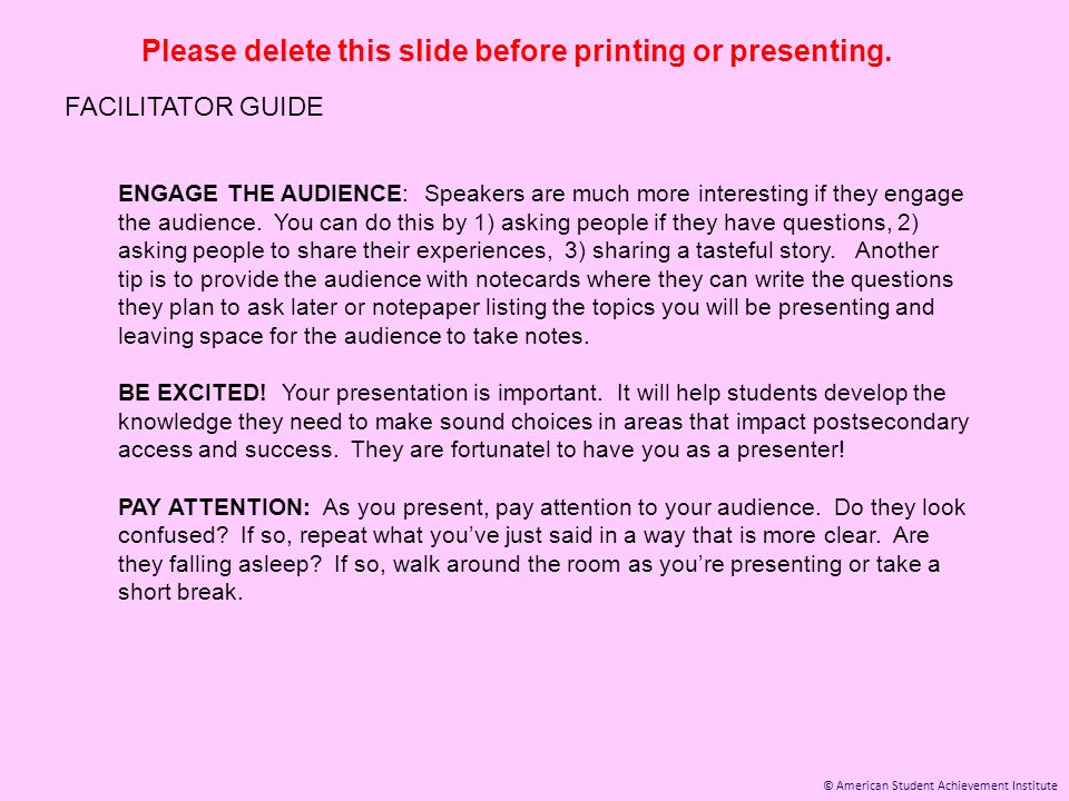 © American Student Achievement Institute Please delete this slide before printing or presenting.