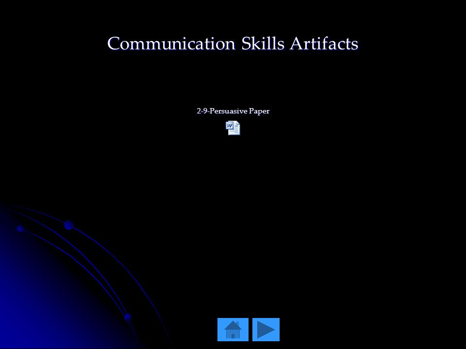Communication Skills Artifacts 2-9-Persuasive Paper