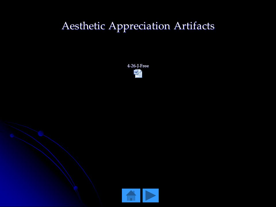 Aesthetic Appreciation Artifacts 4-26-J-Free