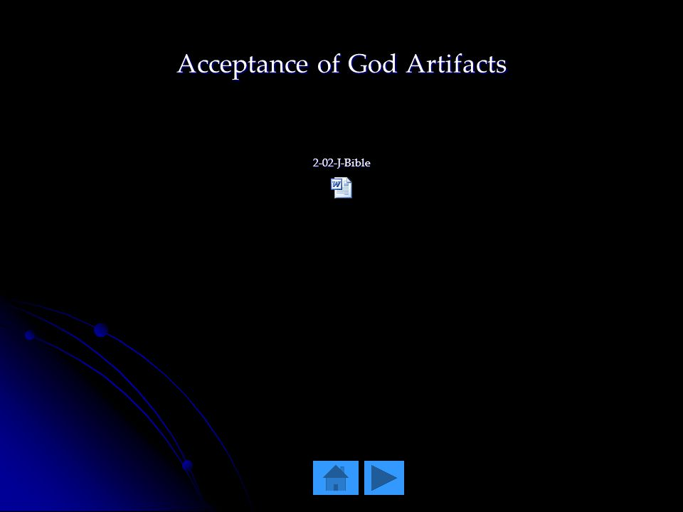 Acceptance of God Artifacts 2-02-J-Bible