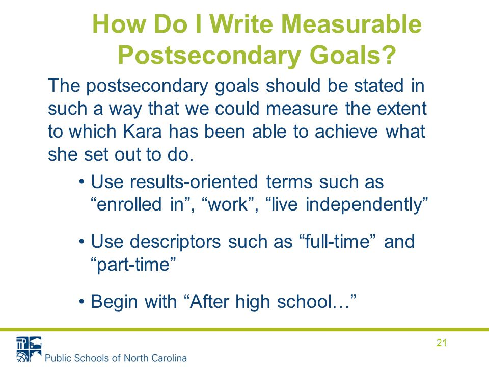 How Do I Write Measurable Postsecondary Goals.