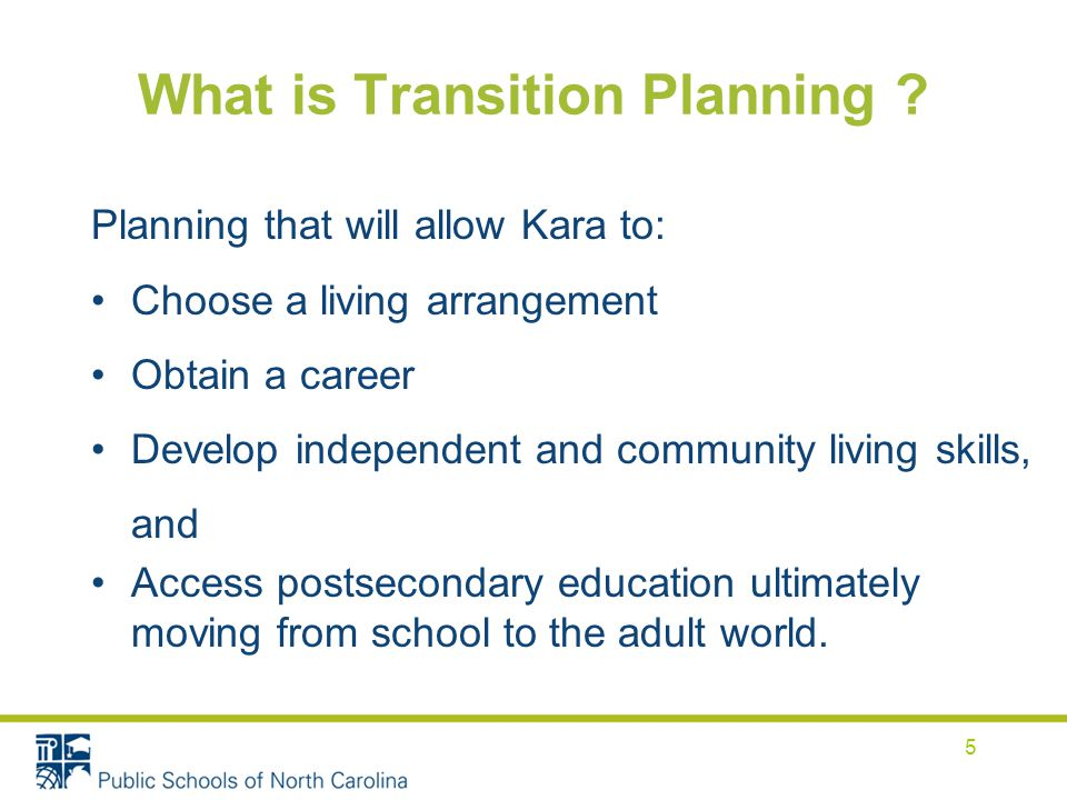 What is Transition Planning .