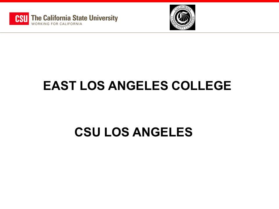 EAST LOS ANGELES COLLEGE CSU LOS ANGELES