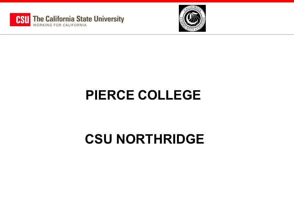 PIERCE COLLEGE CSU NORTHRIDGE