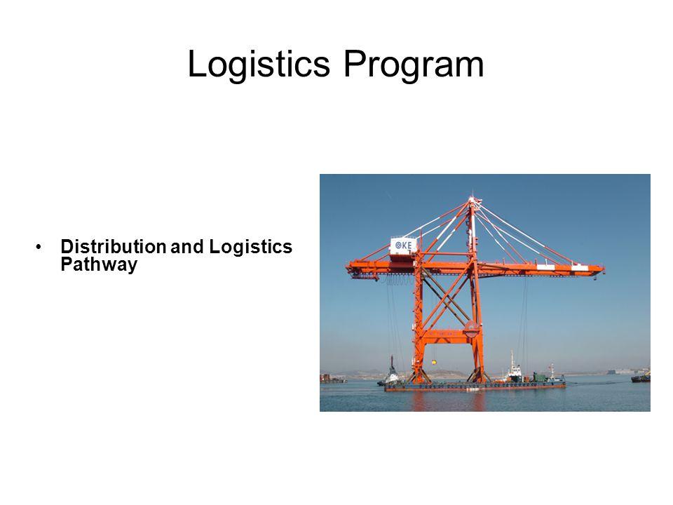 Logistics Program Distribution and Logistics Pathway