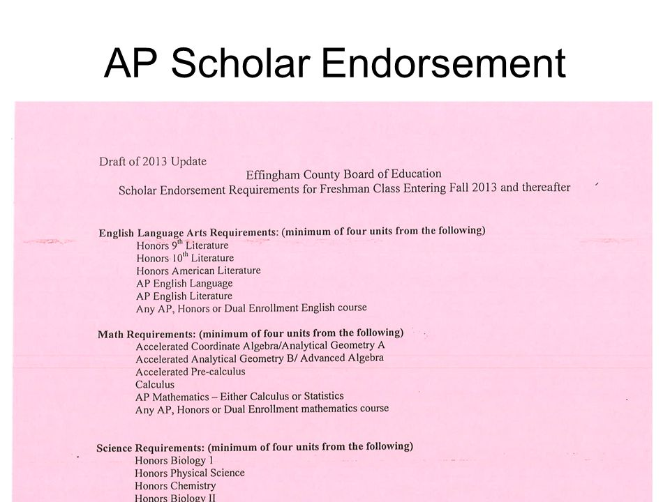 AP Scholar Endorsement