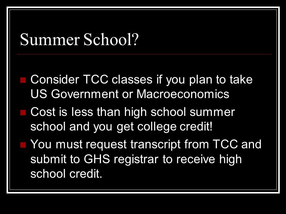 Summer School.