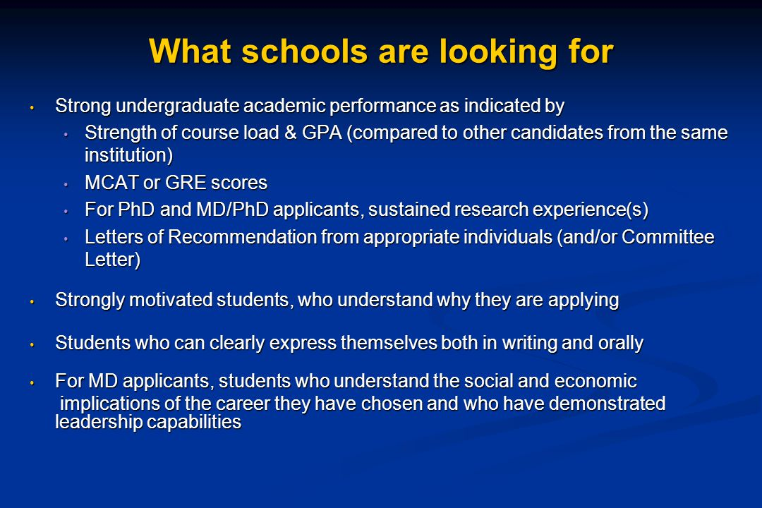 What students should be looking for...