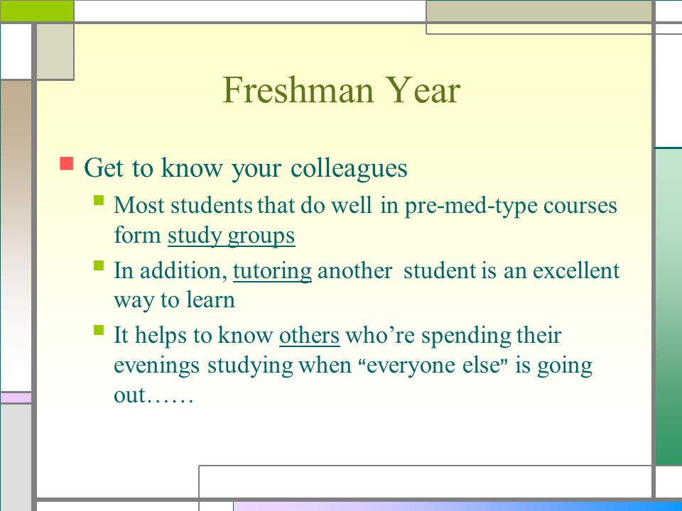 Junior Year Continue the tasks….