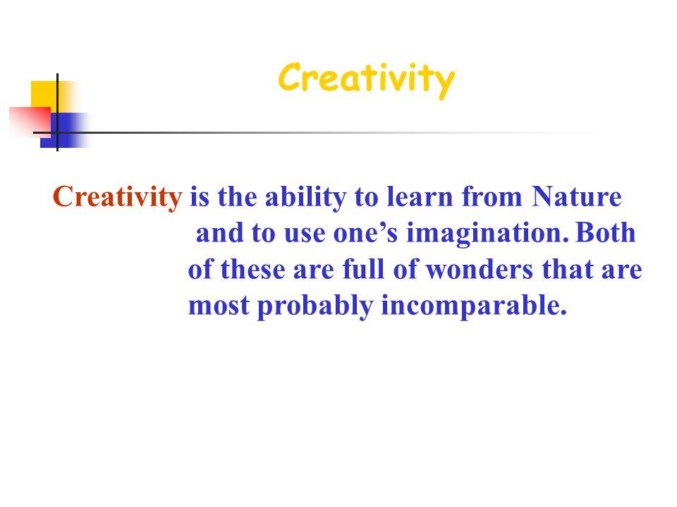 Unit 4 Creativity