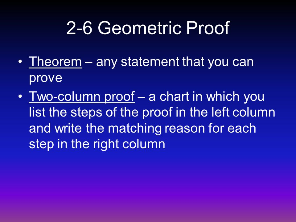 Triangle two column proofs