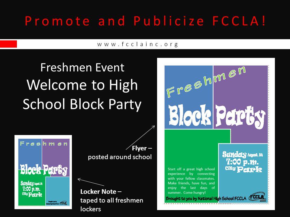 Promote and Publicize FCCLA.