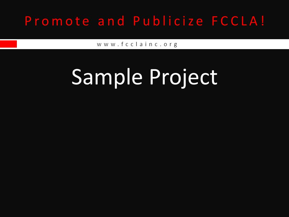 www.fcclainc.org Promote and Publicize FCCLA! Sample Project