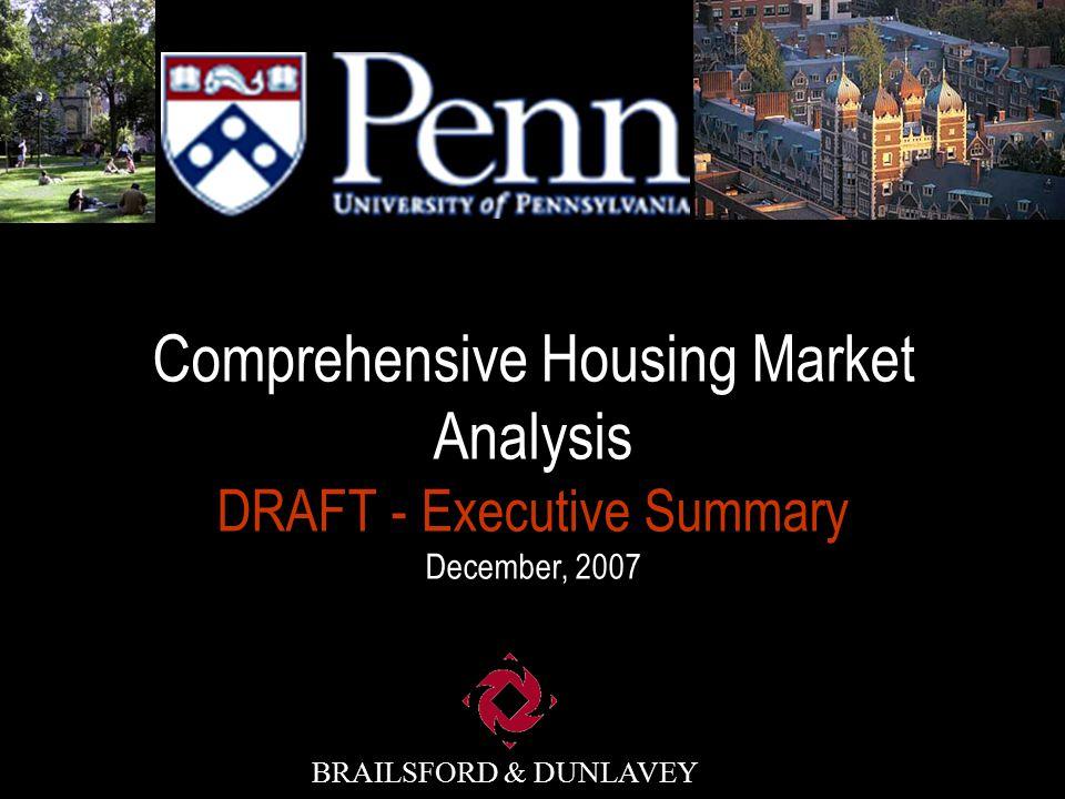 BRAILSFORD & DUNLAVEY Scope & Schedule Review Goals & Objectives Market Analysis Summary Recommendations Presentation Agenda