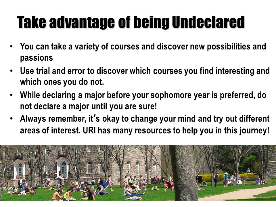 Course Exploration Choose classes based on how much they interest you and your future goals.
