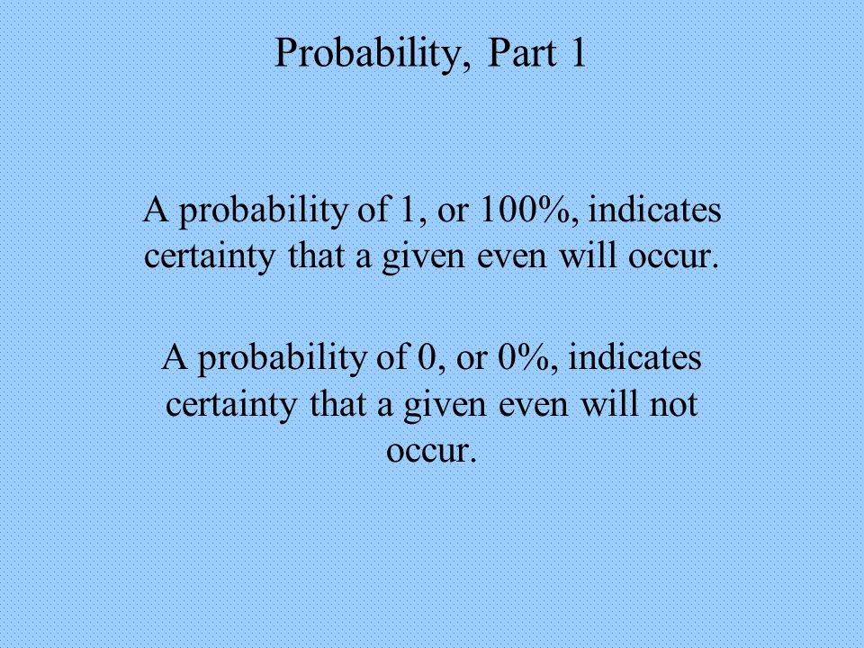 Probability, Part 1 The Addition Principle for Mutually Exclusive Events Example 6: Car Giveaway Out of 40 football players, 5 were also in band, so there were 35 who played football but were not in band.