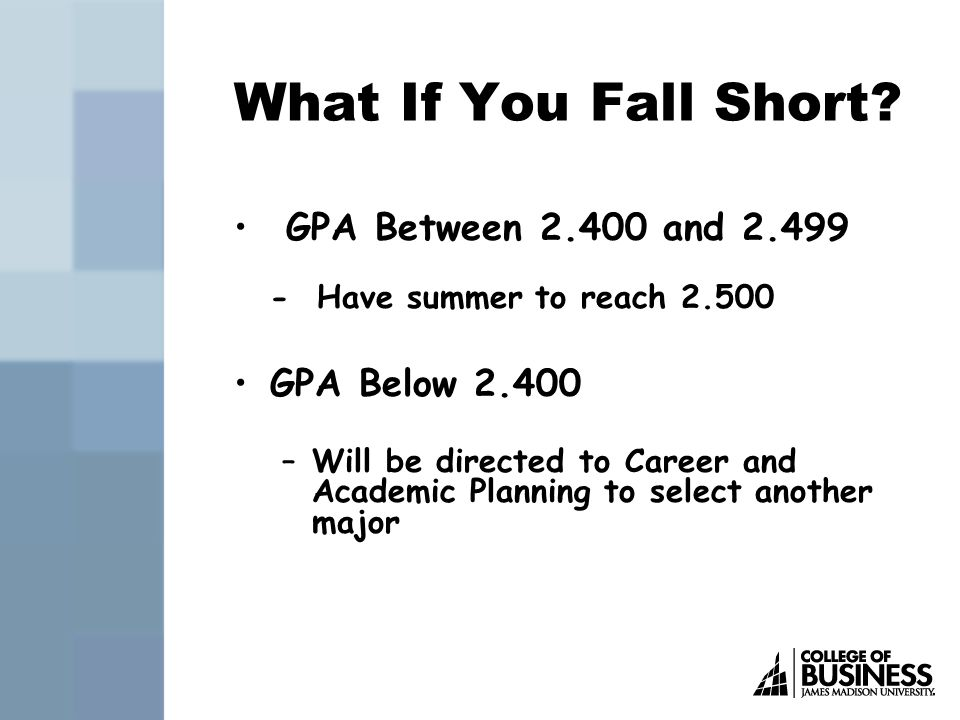 What If You Fall Short.