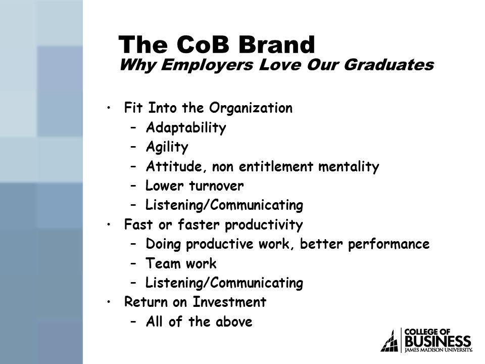 CoB Freshman Scholarships $2,000 Declared CoB major Application due 7/21/08 Handout in lobby or http://www.jmu.edu/cob/Students.shtml http://www.jmu.edu/cob/Students.shtml