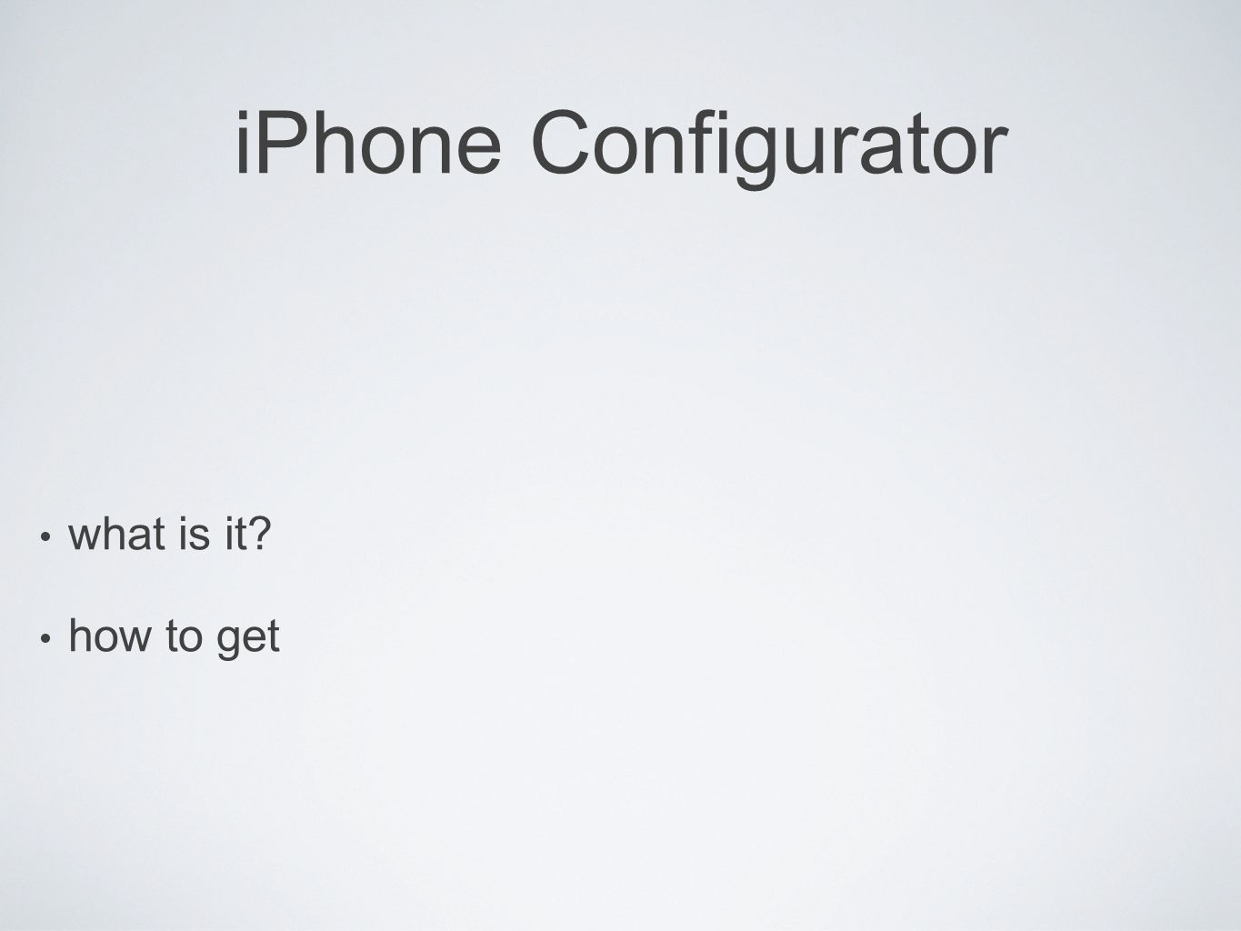 iPhone Configurator what is it how to get