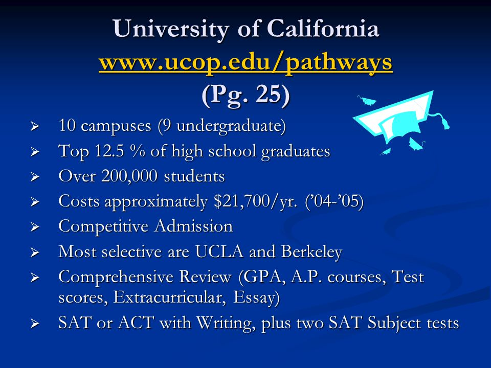 University of California www.ucop.edu/pathways (Pg.