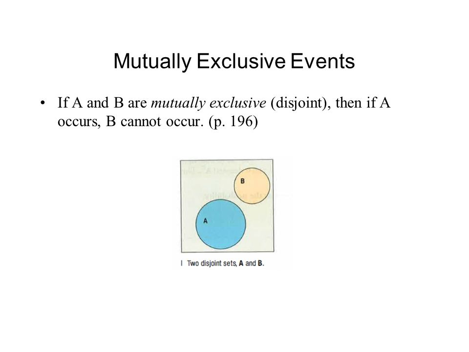 Example: Mutually Exclusive Events Being registered as Republican vs.