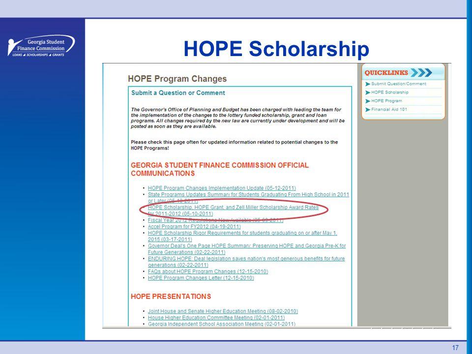HOPE Scholarship 17