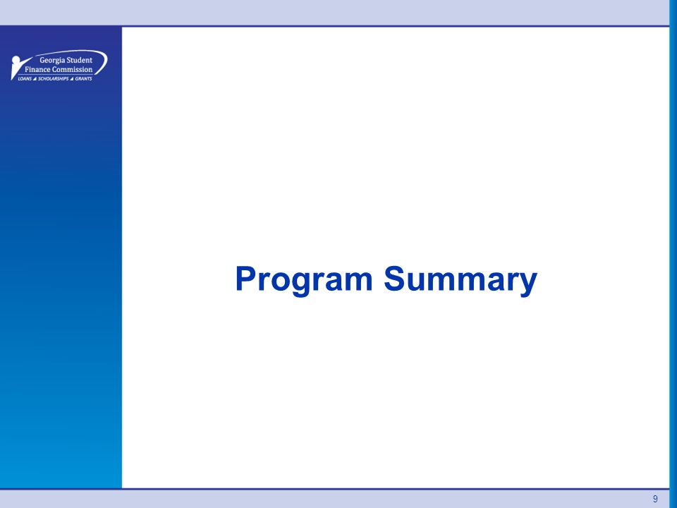Program Summary 9
