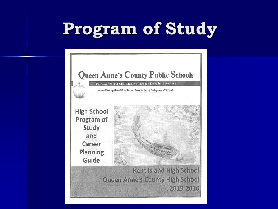 Program of Study
