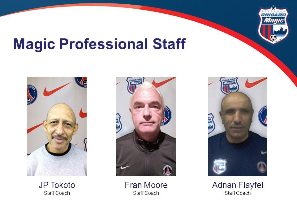 JP Tokoto Staff Coach Fran Moore Staff Coach Adnan Flayfel Staff Coach Magic Professional Staff
