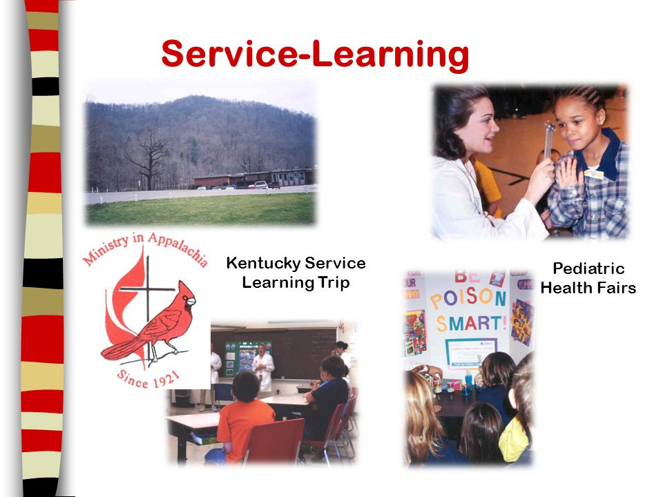 Service-Learning Kentucky Service Learning Trip Pediatric Health Fairs