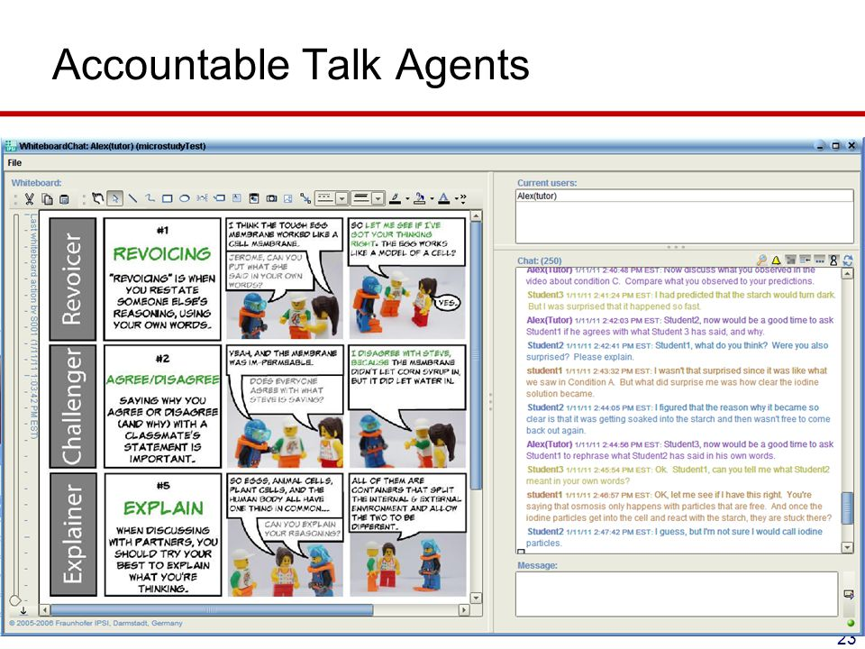 Accountable Talk Agents 23