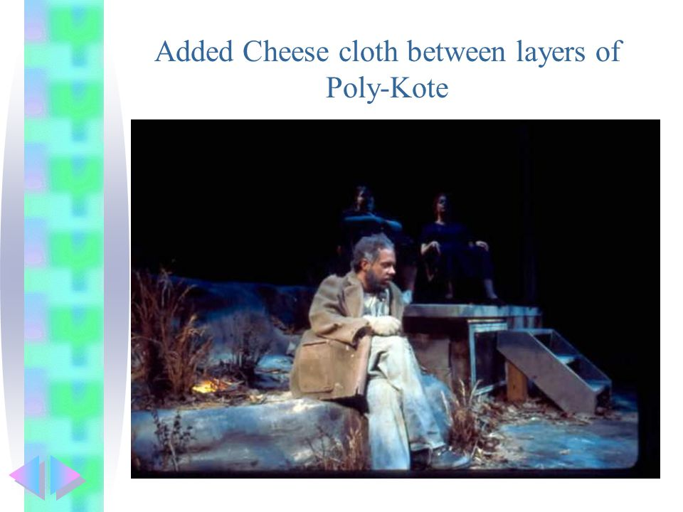 Added Cheese cloth between layers of Poly-Kote