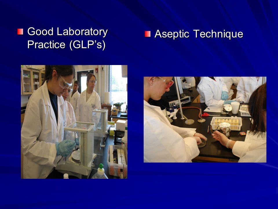 Good Laboratory Practice (GLP's) Aseptic Technique