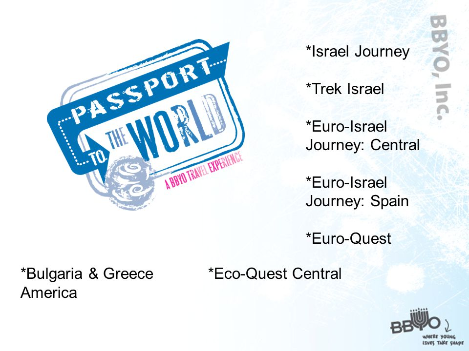**ILSI** International Leadership Seminar Israel *BBYO member s only premier leadership and enrichment program.