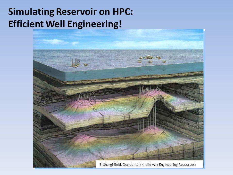 El Shargi field, Occidental (Khalid Aziz Engineering Resources) Simulating Reservoir on HPC: Efficient Well Engineering!