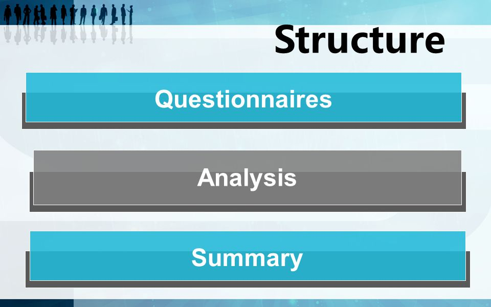 Questionnaires Analysis Structure Summary