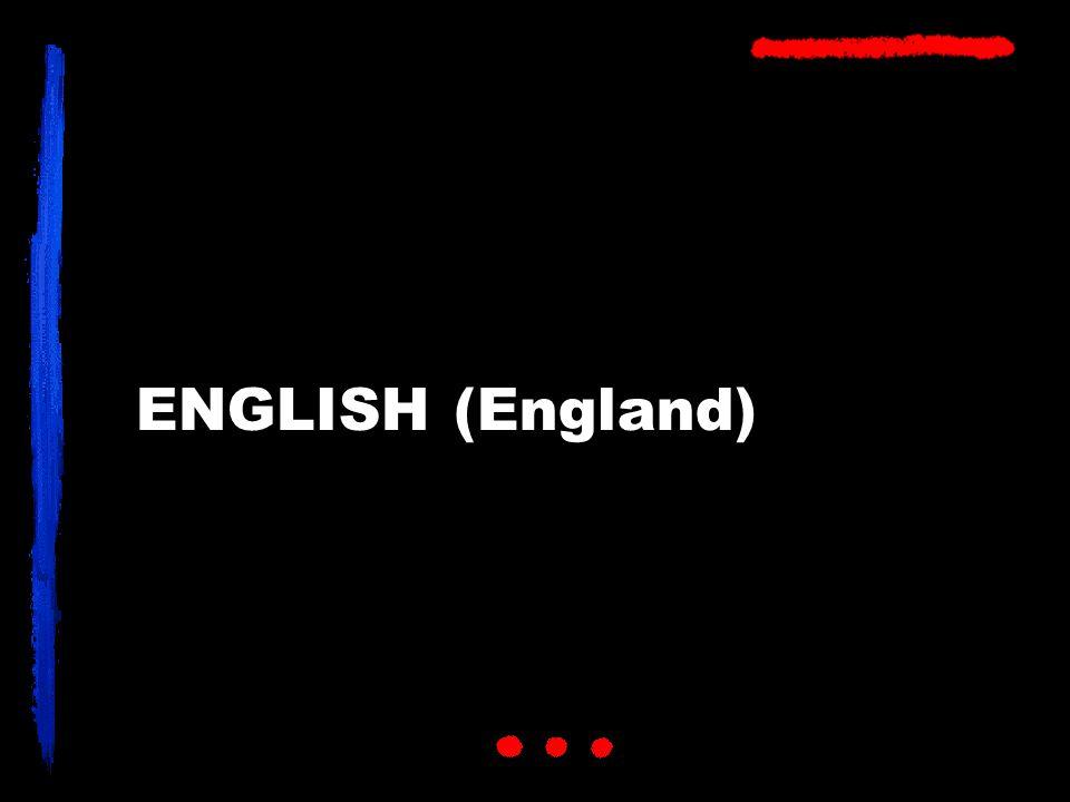 ENGLISH (England)