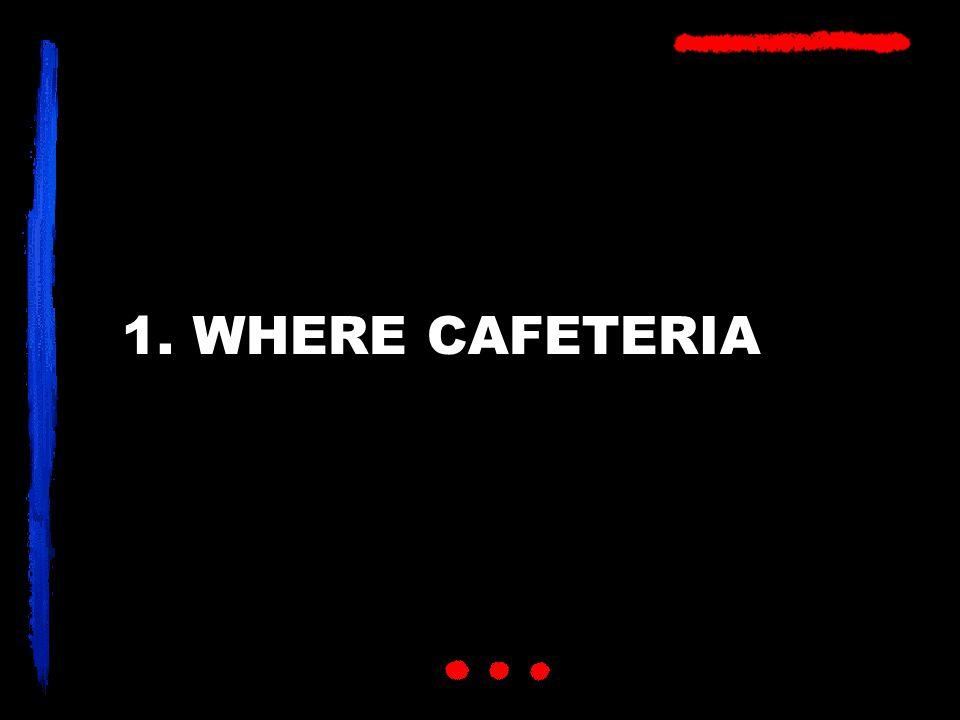 1. WHERE CAFETERIA