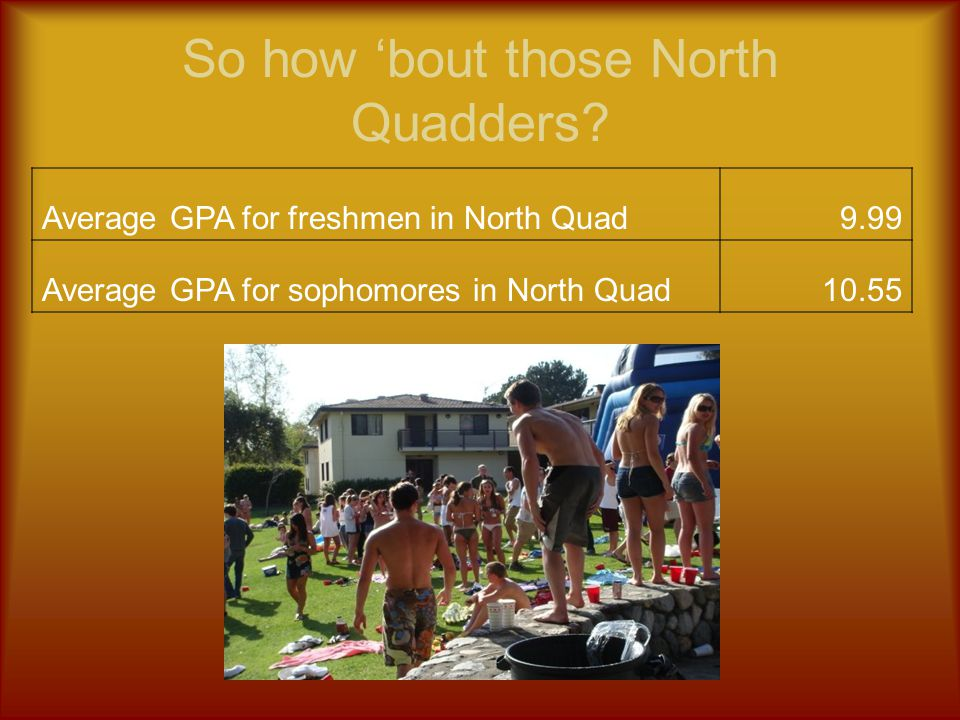 So how 'bout those North Quadders.