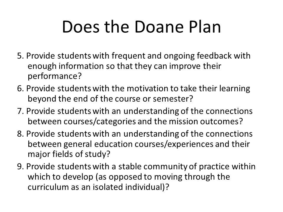 Does the Doane Plan 5.