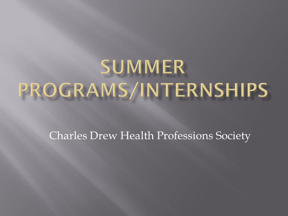 Charles Drew Health Professions Society